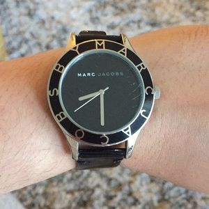 MARC by Marc Jacobs Black and Silver Watch